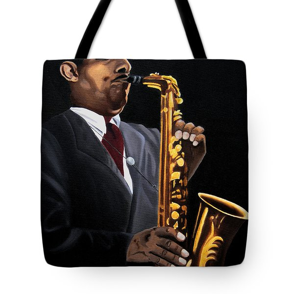 Johnny And The Sax Tote Bag