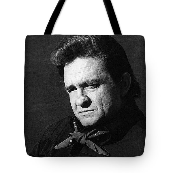 Tote Bag featuring the photograph Johnny Cash Close-up The Man Comes Around Music Homage Old Tucson Az  by David Lee Guss