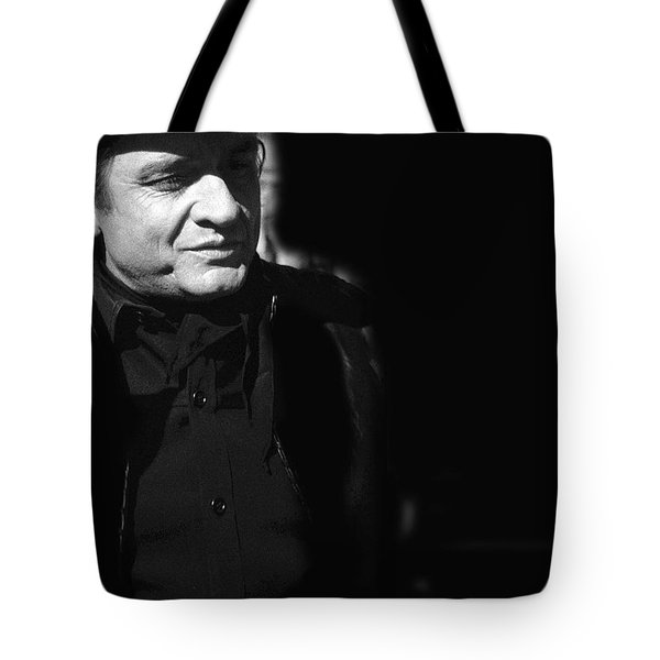 Tote Bag featuring the photograph Johnny Cash Film Noir Homage Old Tucson Arizona 1971 by David Lee Guss