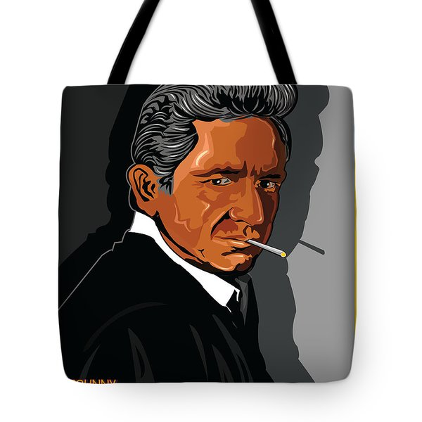Johnny Cash American Country Music Icon Tote Bag