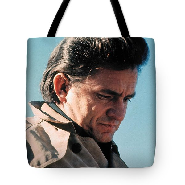 Tote Bag featuring the photograph Johnny Cash  Music Homage Ballad Of Ira Hayes Old Tucson Arizona 1971 by David Lee Guss