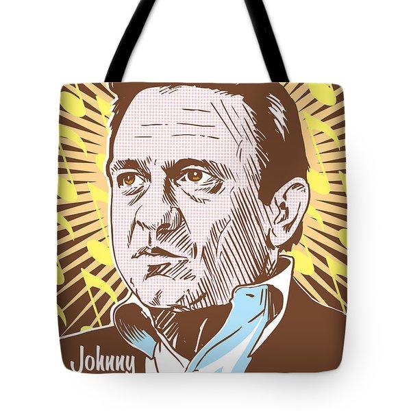 Johnny Cash Pop Art Tote Bag