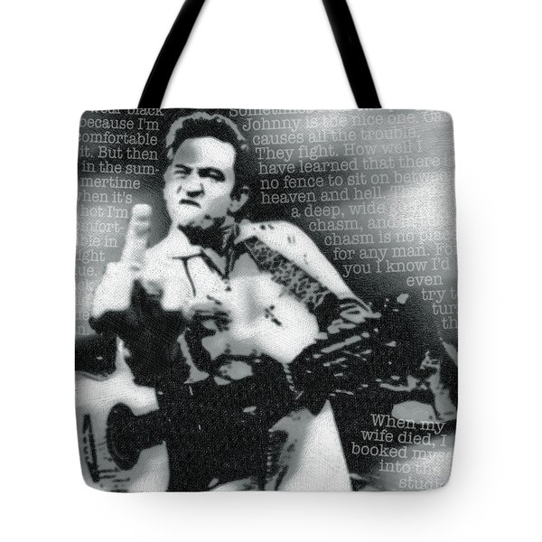Johnny Cash Rebel Tote Bag