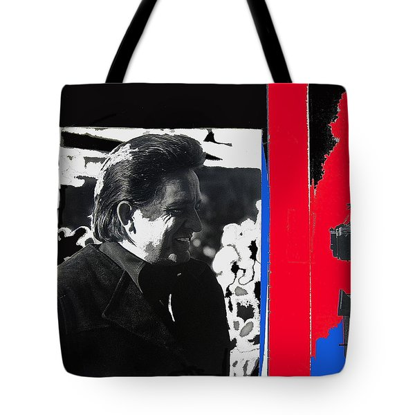 Tote Bag featuring the photograph Johnny Cash  Smiling Collage 1971-2008 by David Lee Guss