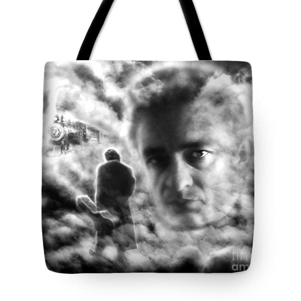 Johnny Cash Train Ride To Glory Tote Bag