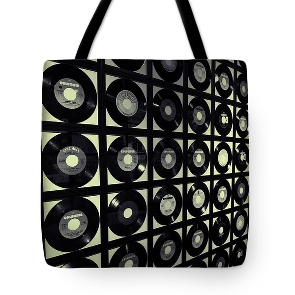Johnny Cash Vinyl Records Tote Bag by Dan Sproul