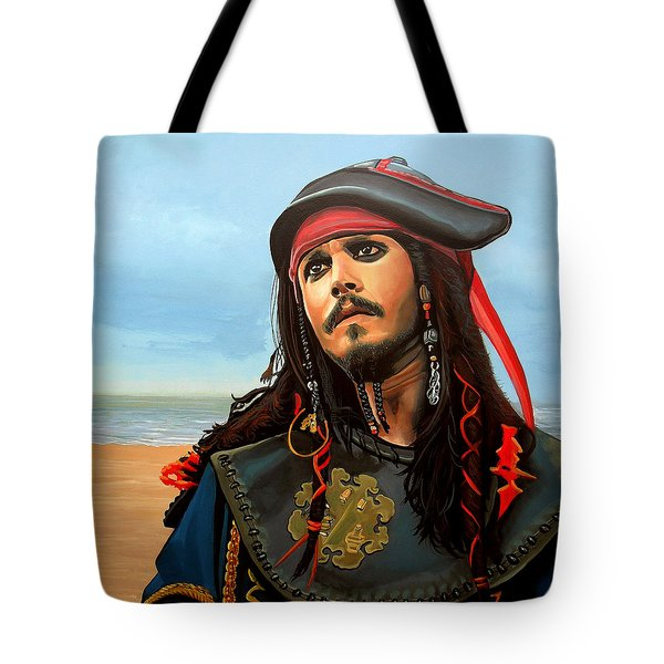 Johnny Depp As Jack Sparrow Tote Bag by Paul Meijering