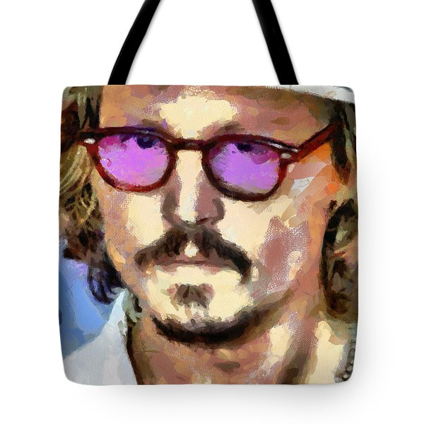 Johnny Depp Actor Tote Bag by Georgi Dimitrov