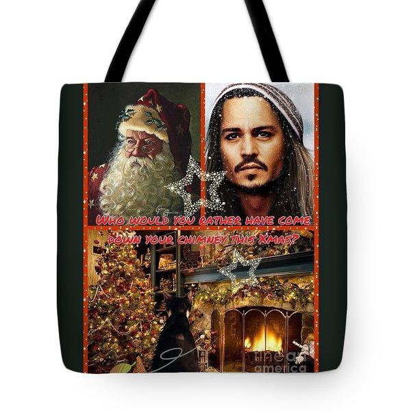 Johnny Depp Xmas Greeting Tote Bag