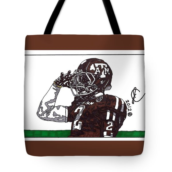 Johnny Manziel The Salute Tote Bag by Jeremiah Colley