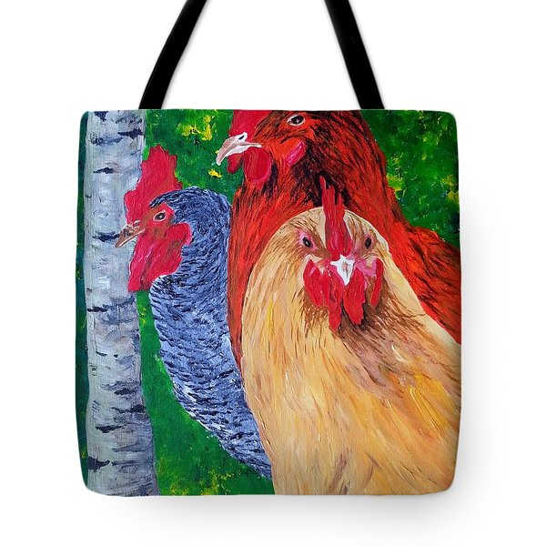 John's Chickens Tote Bag