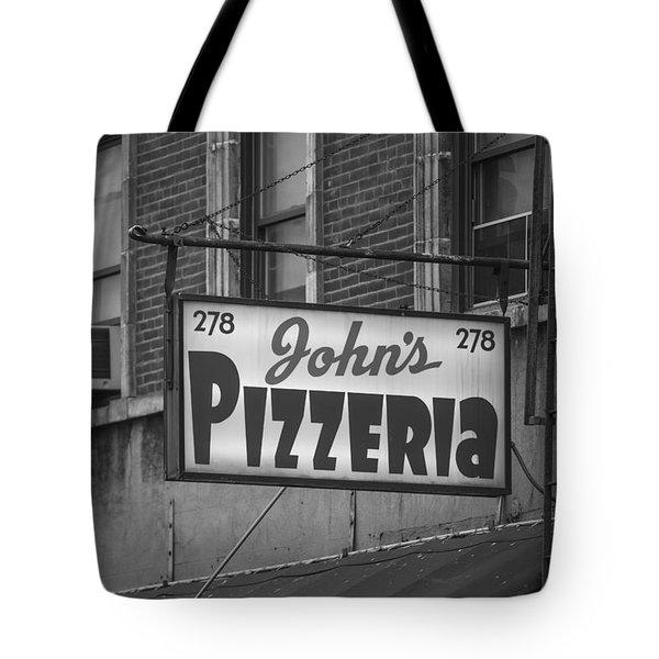 John's Pizzeria In Nyc Tote Bag