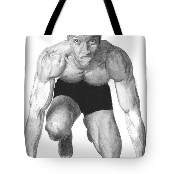 Tote Bag featuring the drawing Johnson by Tamir Barkan