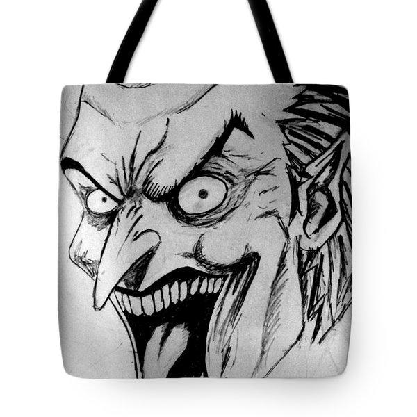 Tote Bag featuring the painting Joker by Salman Ravish