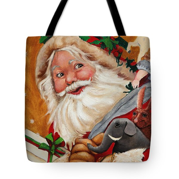 Jolly Santa Tote Bag by Enzie Shahmiri