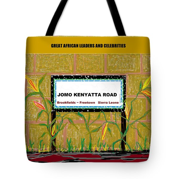 Tote Bag featuring the digital art Jomo Kenyatta Road - Sierra Leone by Mudiama Kammoh