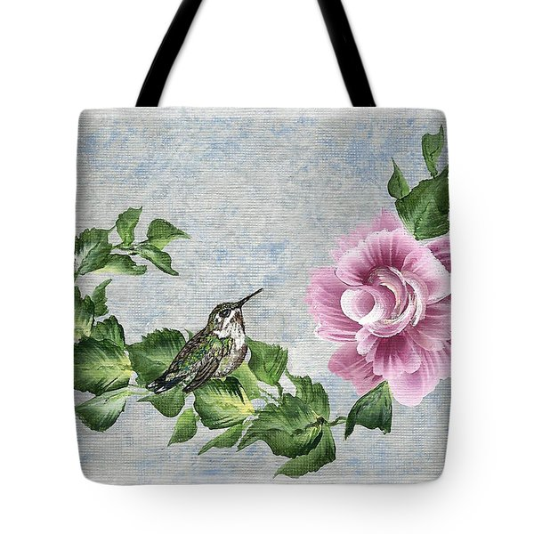 Tote Bag featuring the painting Joni's Flying Jewel by Ella Kaye Dickey