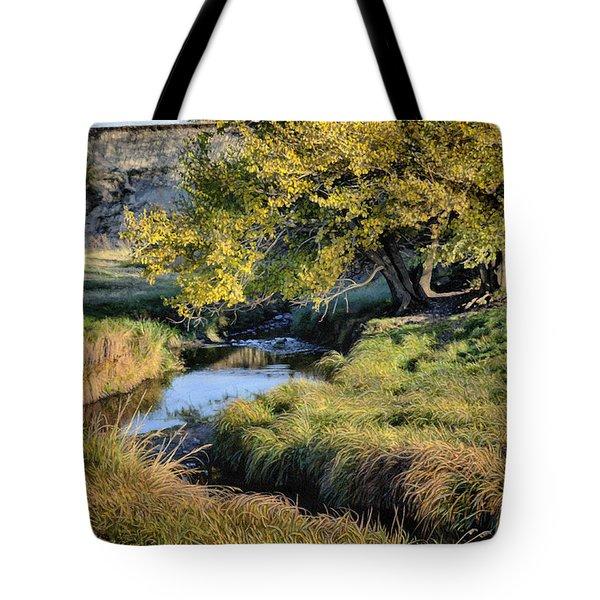 Jordan Creek Autumn Tote Bag by Bruce Morrison