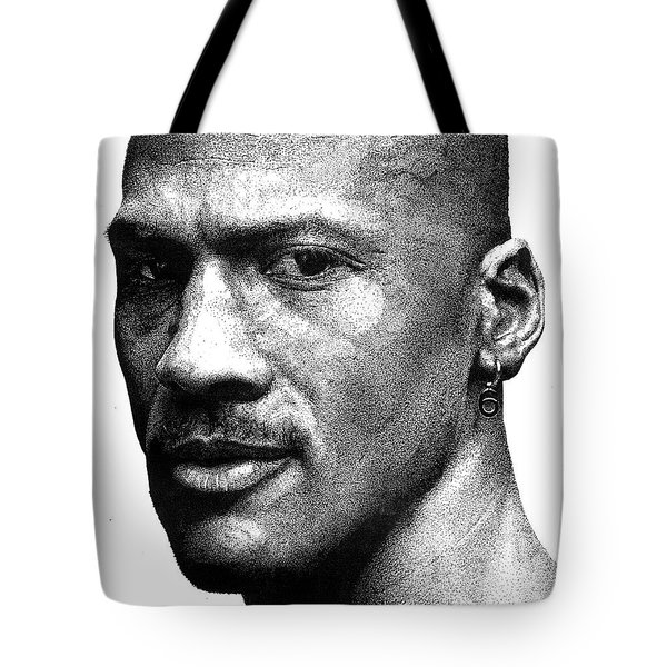 Jordan Dots Tote Bag by Tamir Barkan