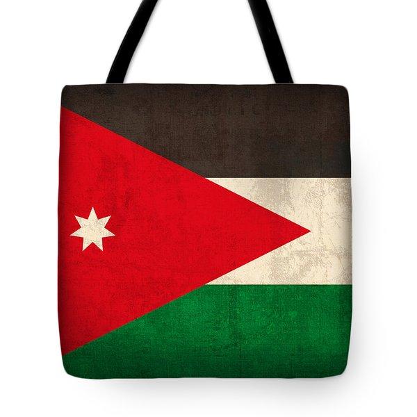 Jordan Flag Vintage Distressed Finish Tote Bag by Design Turnpike