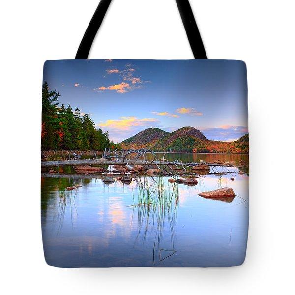 Jordan Pond In Fall Tote Bag