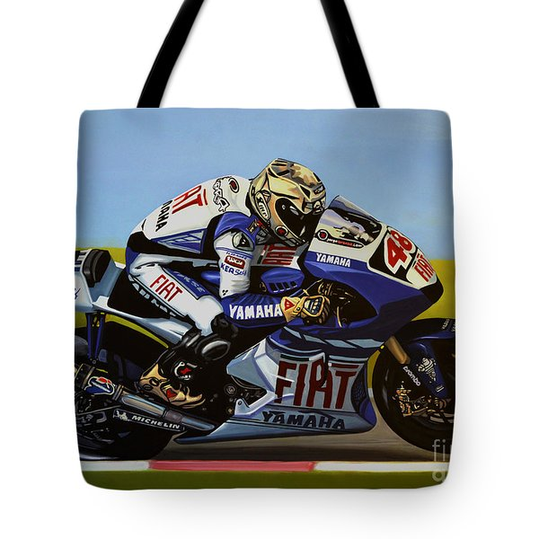 Jorge Lorenzo Tote Bag by Paul Meijering