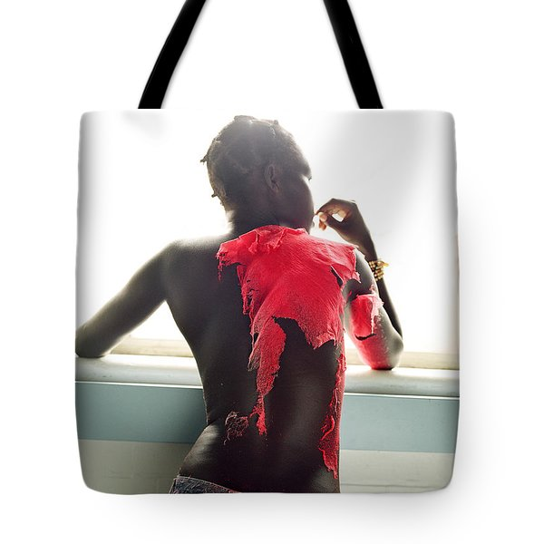 Josephine Red Tote Bag