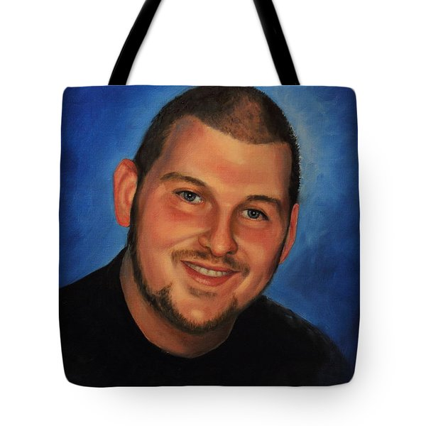 Tote Bag featuring the painting Josh by Glenn Beasley