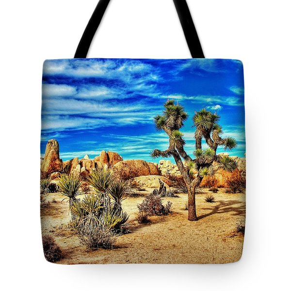 Tote Bag featuring the photograph Joshua Tree by Benjamin Yeager