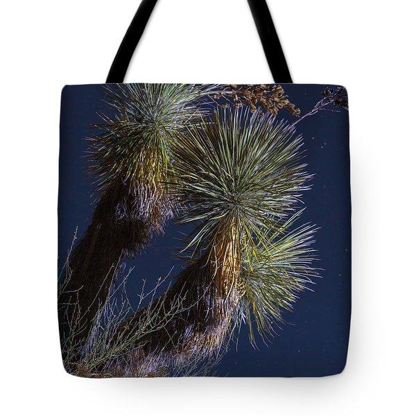 Joshua Tree By Moonlight Tote Bag