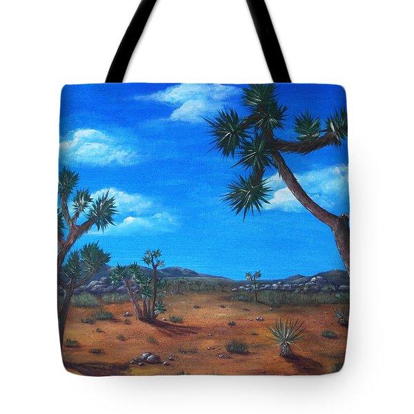 Joshua Tree Desert Tote Bag by Anastasiya Malakhova