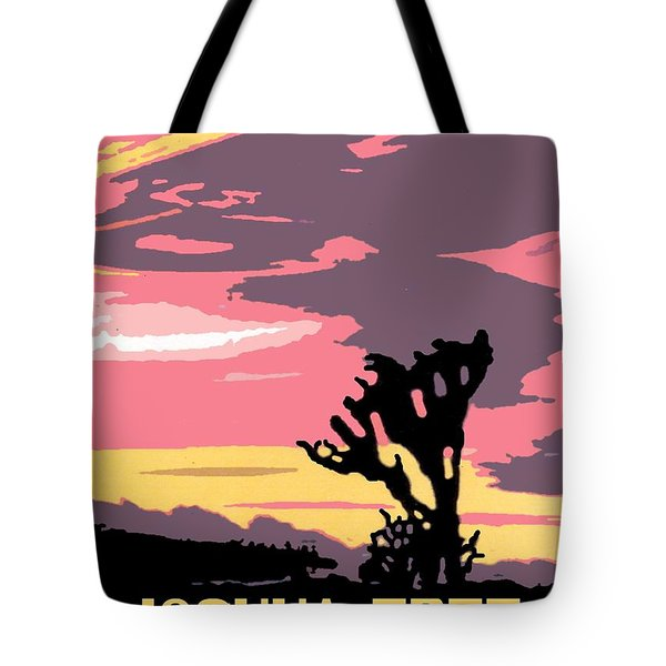 Joshua Tree National Park Vintage Poster Tote Bag