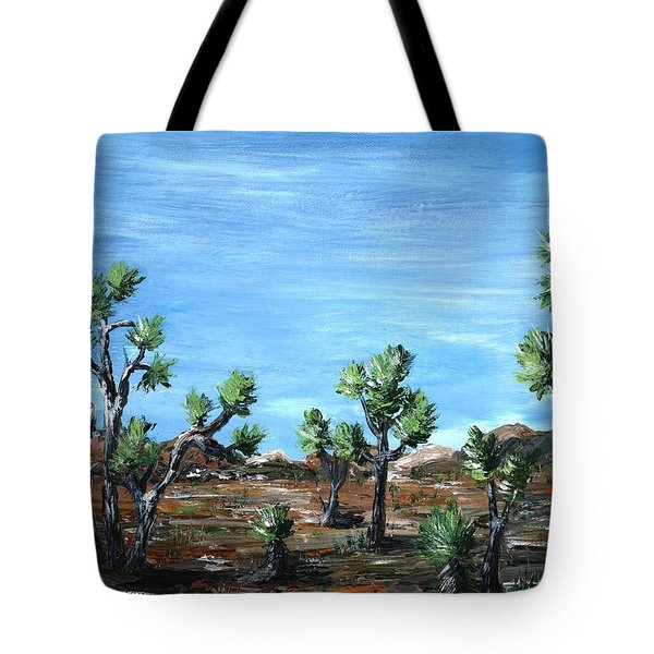Joshua Trees Tote Bag by Anastasiya Malakhova