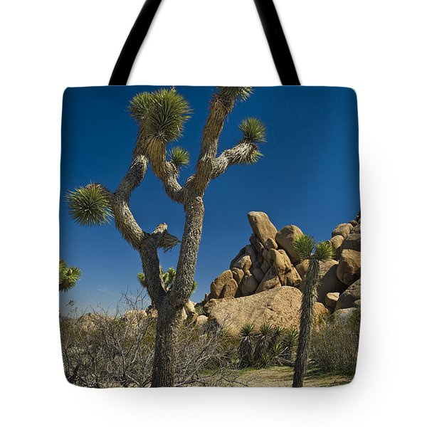 California Joshua Trees In Joshua Tree National Park By The Mojave Desert Tote Bag