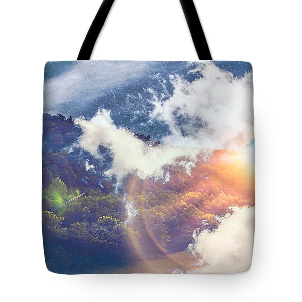Journey To Another Dimension Tote Bag