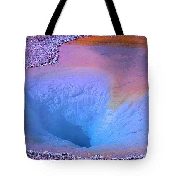 Journey To The Center Of Geyserland Tote Bag