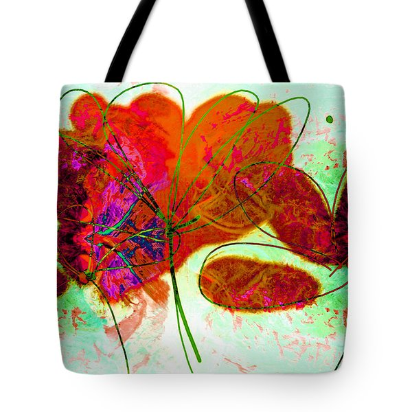 Joy Flower Abstract Tote Bag by Ann Powell