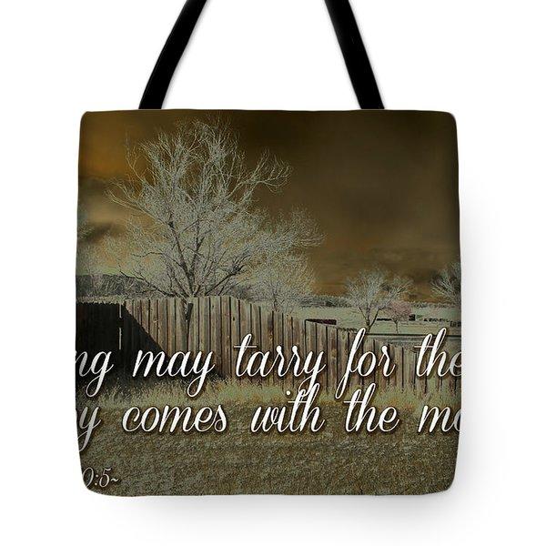Joy In The Morning Tote Bag