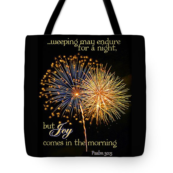 Joy In The Morning Tote Bag by Larry Bishop