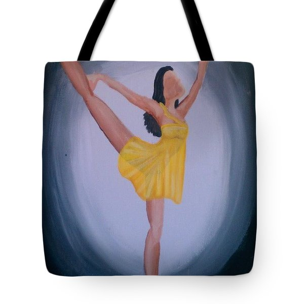 Tote Bag featuring the painting Joy by Marisela Mungia