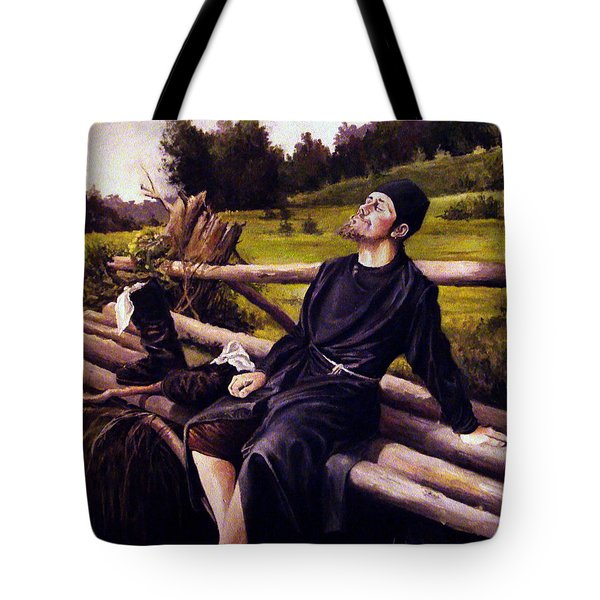 Tote Bag featuring the painting Joy Of Life by Mikhail Savchenko