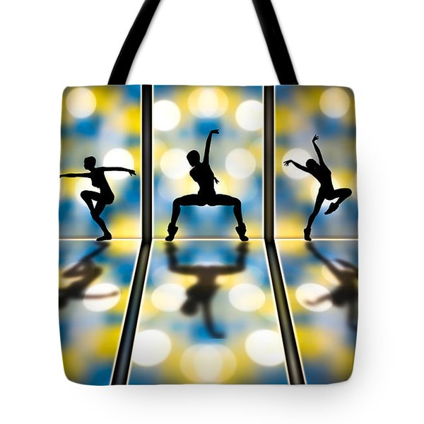 Tote Bag featuring the digital art Joy Of Movement by Bob Orsillo