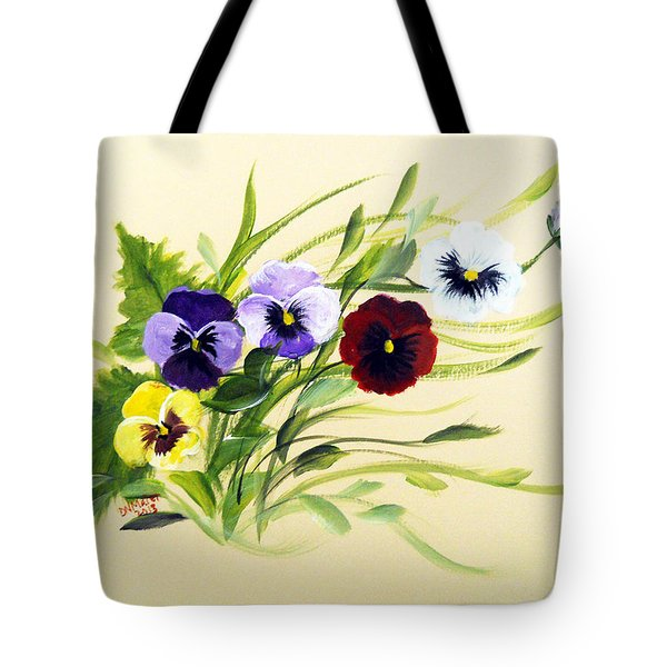 Joy Of Pansies Field Tote Bag