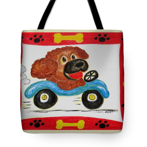 Tote Bag featuring the painting Joy Ride by Diane Pape