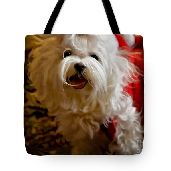 Joy To The World Tote Bag by Lois Bryan
