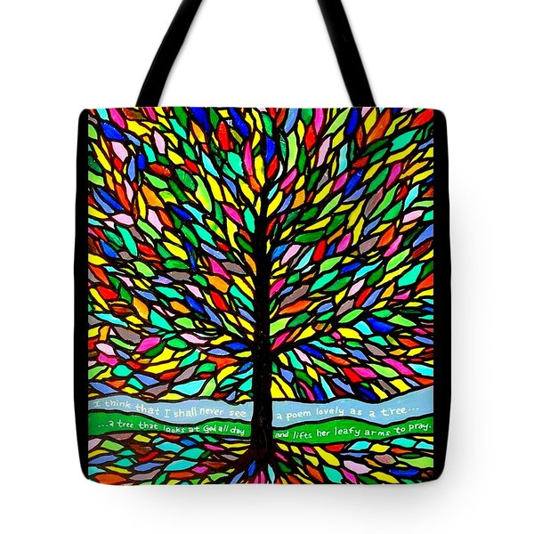 Joyce Kilmer's Tree Tote Bag