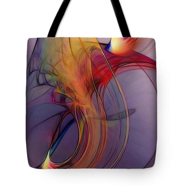 Joyful Leap-abstract Art Tote Bag