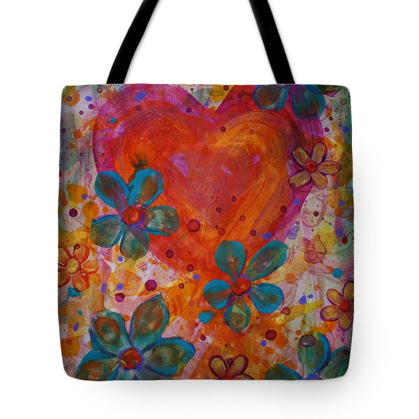Tote Bag featuring the painting Joyful Noise by Jacqueline Athmann