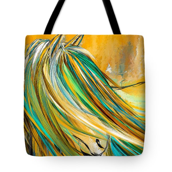 Joyous Soul- Yellow And Turquoise Artwork Tote Bag