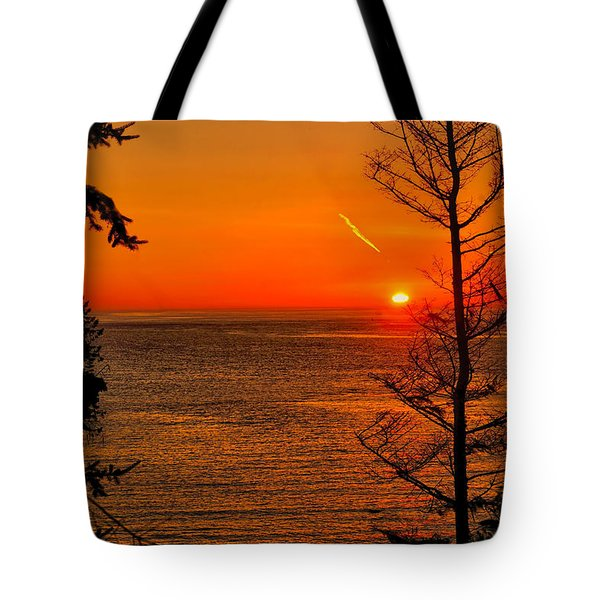 Juan De Fuca Sunset Tote Bag